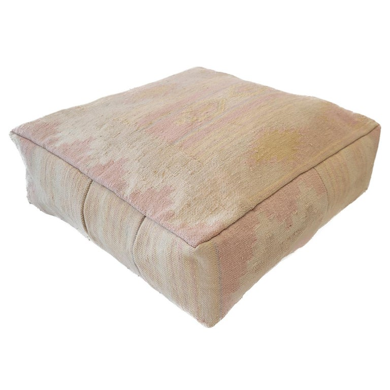 Awe Inspiring Pastel Moroccan Kilim Pouf Ottoman From Morocco Lamtechconsult Wood Chair Design Ideas Lamtechconsultcom