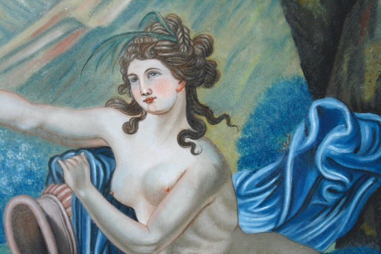 German Pastel Painting of Aphrodite Signed Nannette Kenner, 1821 For Sale