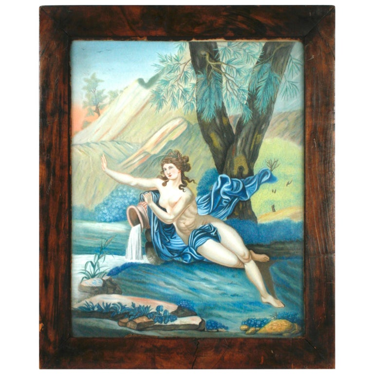 Pastel Painting of Aphrodite Signed Nannette Kenner, 1821 For Sale