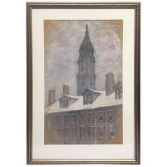 Pastel Painting, Signed Aaron Harry 'Gorson, 1902'