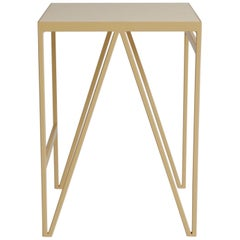 Pastel Stool Made in Steel and Natural Linoleum, Customisable