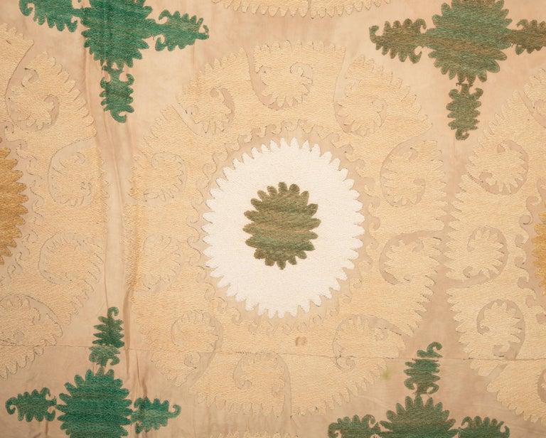 Cotton Pastel Suzani from Samarkand, Uzbekistan, Central Asia, 1970s For Sale