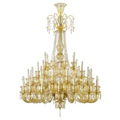 Large Luxury Chandelier 48arms Chandelier blown Amber Murano glass by Multiforme