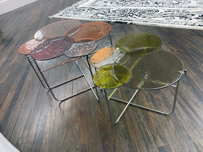 Contemporary Pastille Glass Side Tables by Sebastian Herkner For Sale
