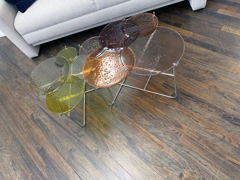 Pastille Glass Side Tables by Sebastian Herkner For Sale 1