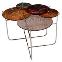Pastille Red Glass Side Table by Sebastian Herkner
