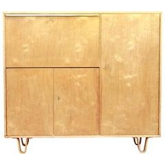 Pastoe Birch Cabinet Model CB01 by Cees Braakman, 1950s Dutch Design