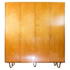 Pastoe Braakman Wardrobe Cabinet Kast KB04 Plywood Legs