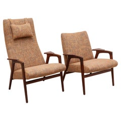 Pastoe Chairs Set of One Ladies Chair & One Gentleman Chair, Designed by Ekström