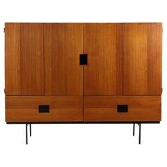 Pastoe CU04 Teak Japanese Series Cabinet Cees Braakman Highboard, 1960's