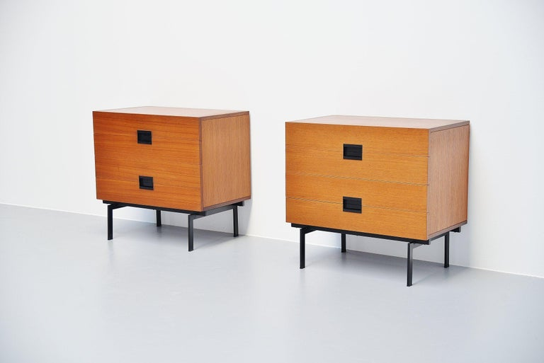 Mid-Century Modern Pastoe DU10 Drawer Cabinets by Cees Braakman, 1958 For Sale