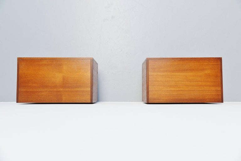 Dutch Pastoe DU10 Drawer Cabinets by Cees Braakman, 1958 For Sale