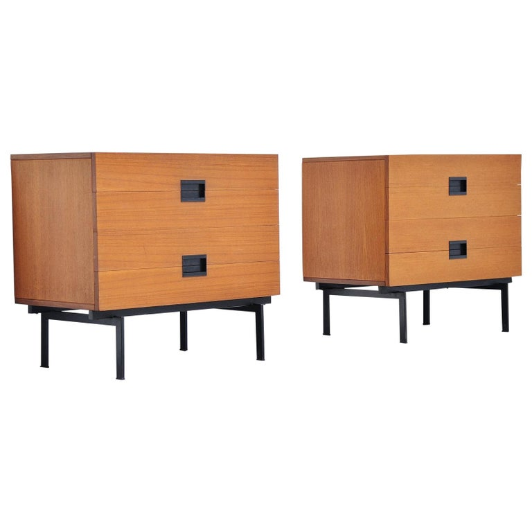 Pastoe DU10 Drawer Cabinets by Cees Braakman, 1958 For Sale