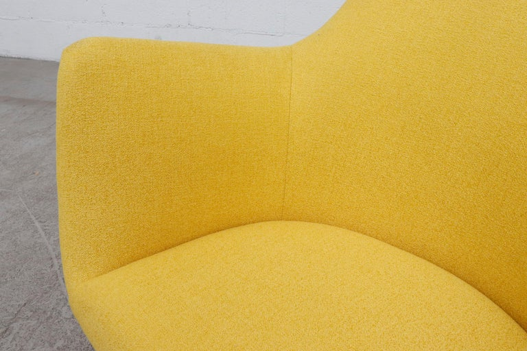 Pastoe Ekselius Lounge Chair for Pastoe in Canary Yellow For Sale 3