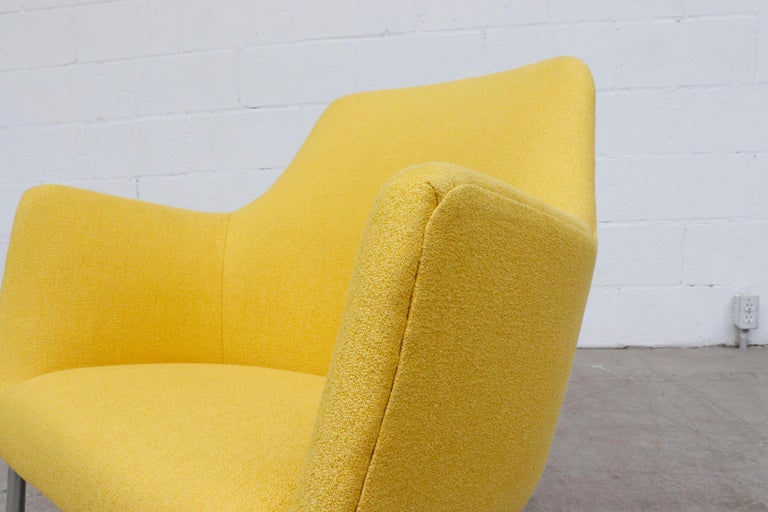 Pastoe Ekselius Lounge Chair for Pastoe in Canary Yellow For Sale 4