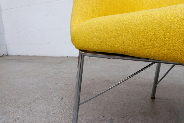 Pastoe Ekselius Lounge Chair for Pastoe in Canary Yellow For Sale 5