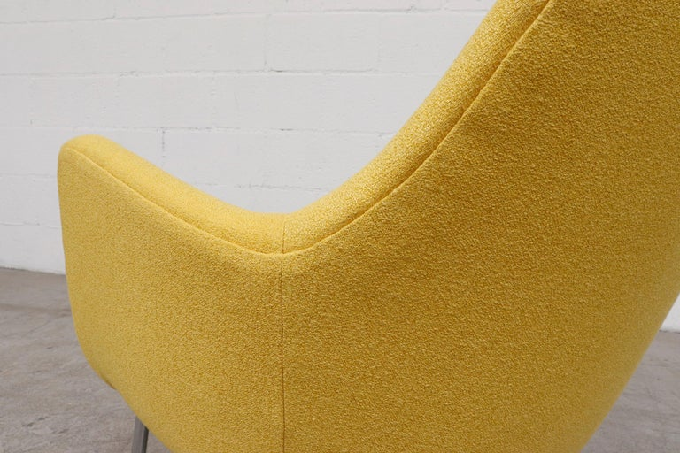Pastoe Ekselius Lounge Chair for Pastoe in Canary Yellow For Sale 7