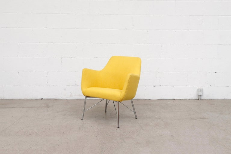 Mid-Century Modern Pastoe Ekselius Lounge Chair for Pastoe in Canary Yellow For Sale