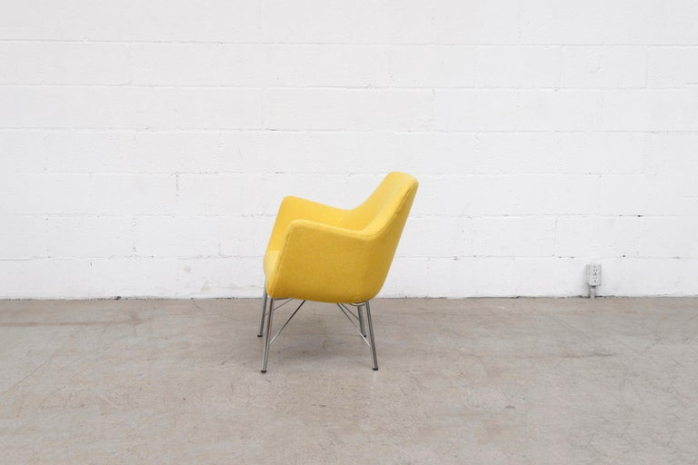 Dutch Pastoe Ekselius Lounge Chair for Pastoe in Canary Yellow For Sale