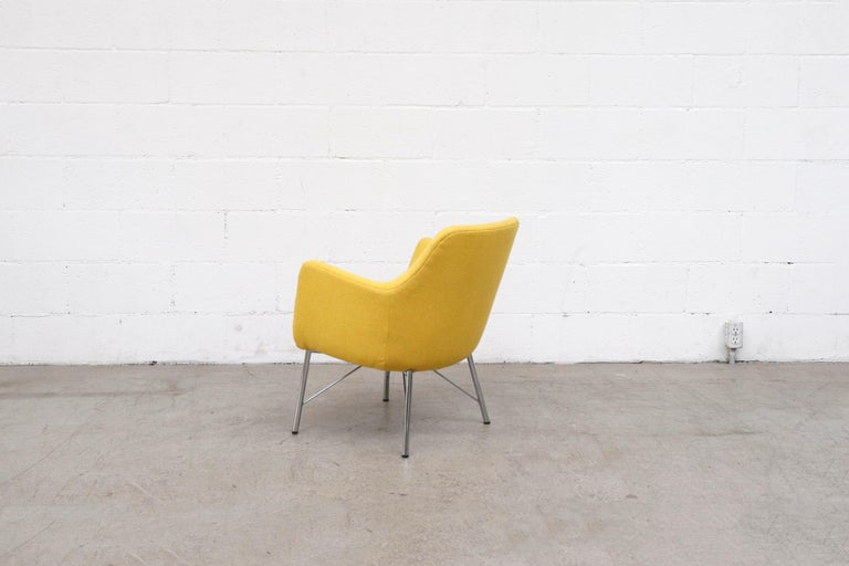 Pastoe Ekselius Lounge Chair for Pastoe in Canary Yellow In Good Condition For Sale In Los Angeles, CA