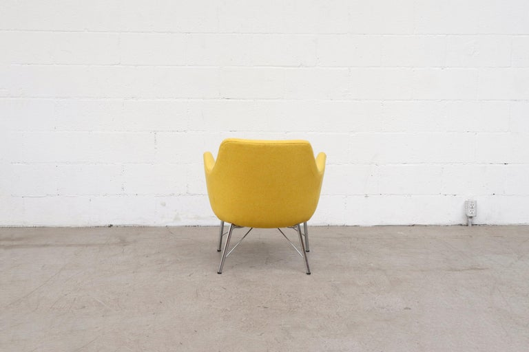 Mid-20th Century Pastoe Ekselius Lounge Chair for Pastoe in Canary Yellow For Sale