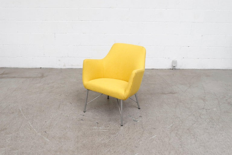 Pastoe Ekselius Lounge Chair for Pastoe in Canary Yellow For Sale 1