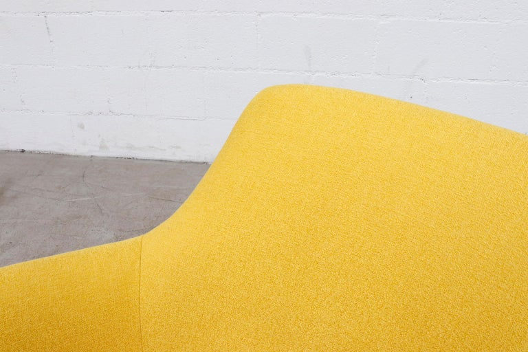 Pastoe Ekselius Lounge Chair for Pastoe in Canary Yellow For Sale 2