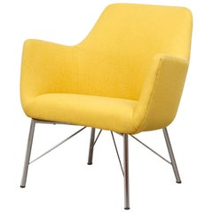 Pastoe Ekselius Lounge Chair for Pastoe in Canary Yellow