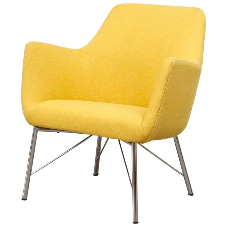 Pastoe Ekselius Lounge Chair for Pastoe in Canary Yellow For Sale