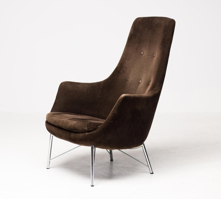 Steel Pastoe FM31 Lounge Chair by Karl Ekselius For Sale