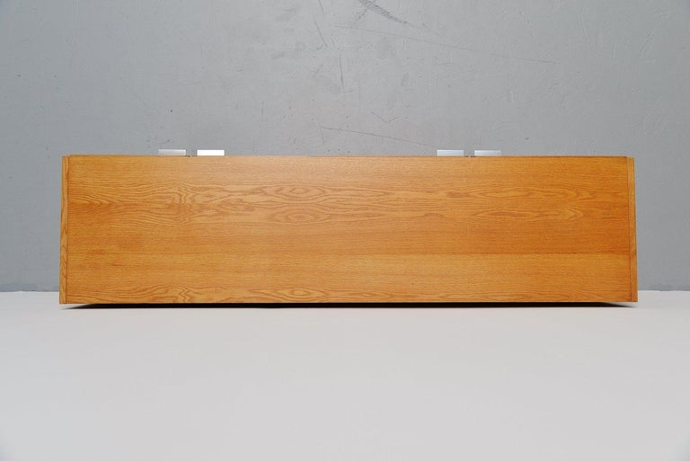 Metal Pastoe Made to Measure Buffet in Oak, Holland, 1965 For Sale