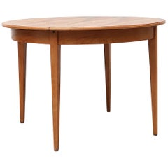 Pastoe Midcentury Round to Oval Pecan Dining Table