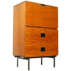 Pastoe Teak Small Cabinet CU02 by Cees Braakman, 1958