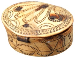 Pastoral Box, Shepherd Box, Horn or Antler, 18th Century