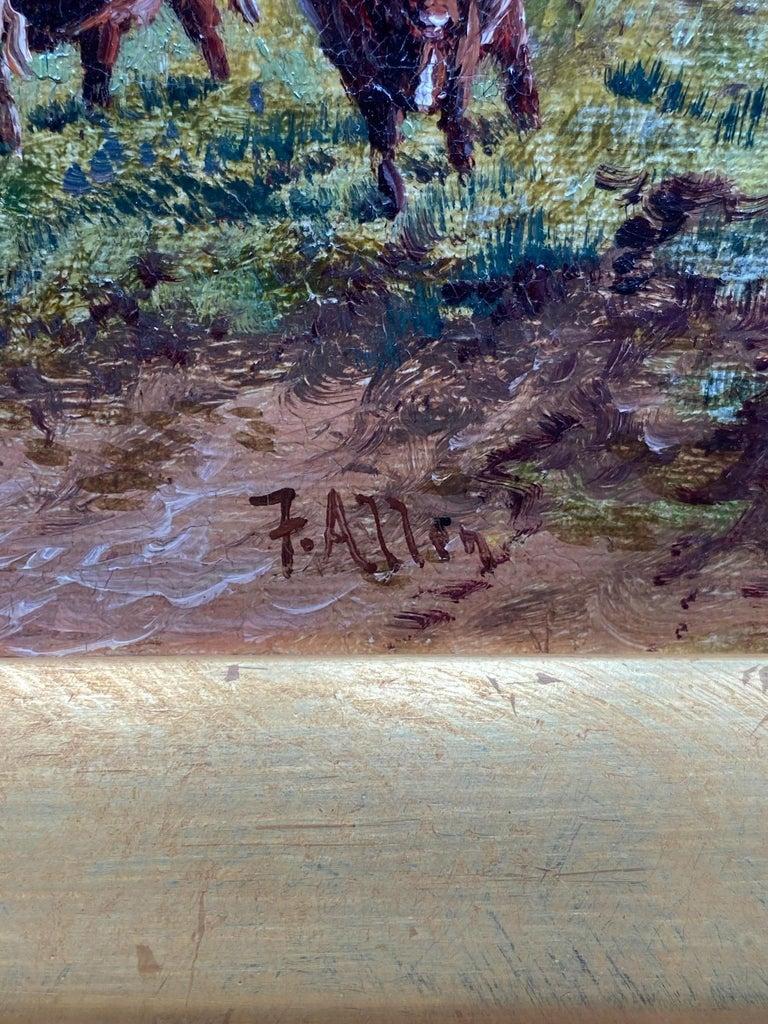 Pastorallandscape / oil on canvas / signed by F. Allen, 19th century.