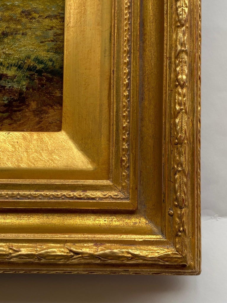 Italian Pastoral Landscape / Oil on Canvas / Signed by F. Allen, 19th Century For Sale