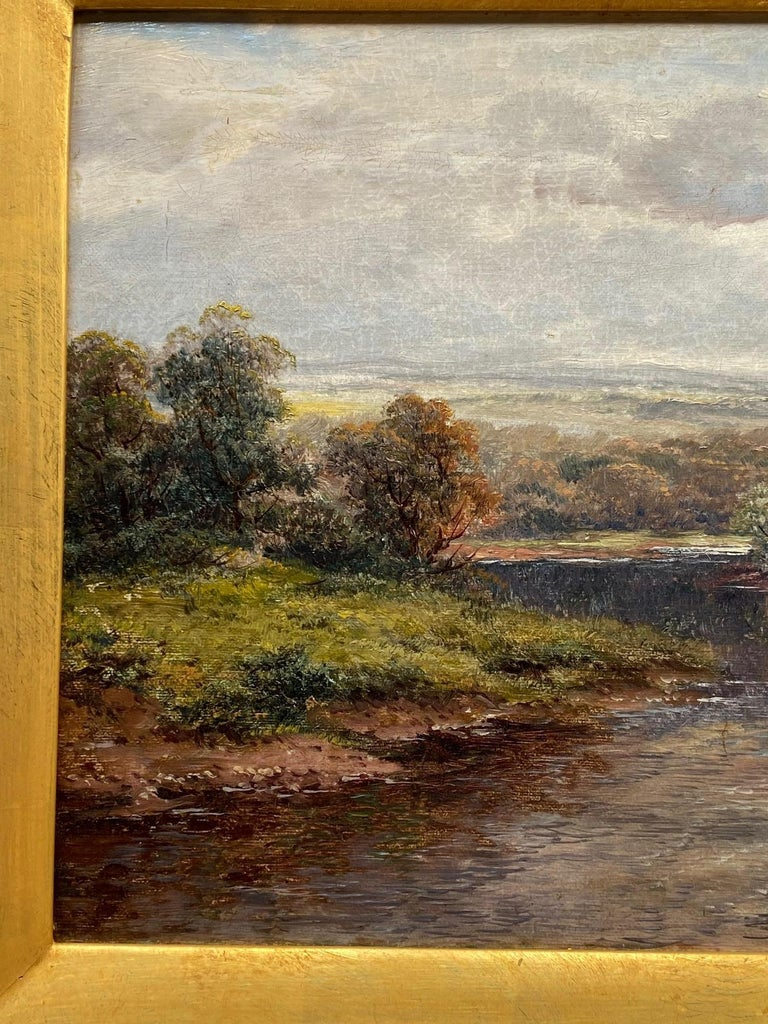 Pastoral Landscape / Oil on Canvas / Signed by F. Allen, 19th Century For Sale 2