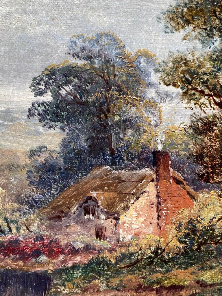 Pastoral Landscape / Oil on Canvas / Signed by F. Allen, 19th Century For Sale 4