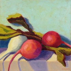 Three Radishes, Oil Painting
