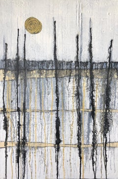 Harvest Moon, Abstract Painting
