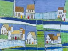 Irish Village, Abstract Painting