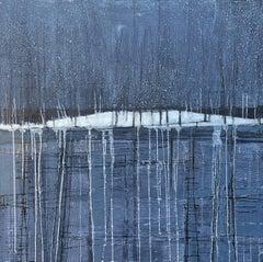 Night Rain, Abstract Painting