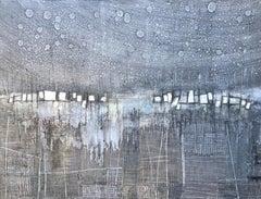 Night Rain II, Abstract Painting