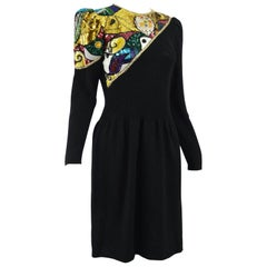 Pat Sandler Sequin Beaded Knit Party Dress