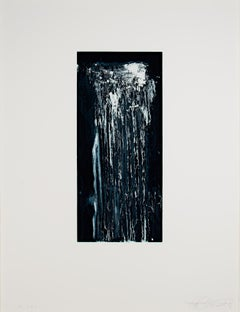 """Beautiful,"" white ground aquatint and drypoint by Pat Steir"