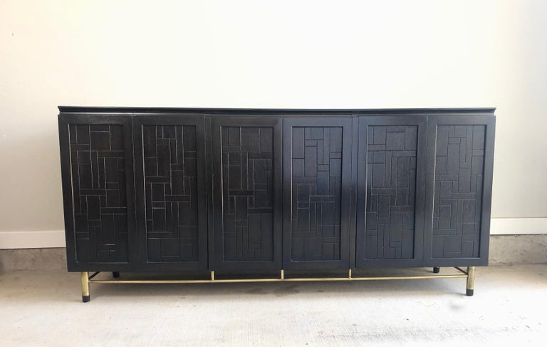 Mid-Century Modern Patchwork Credenza by John Stuart For Sale