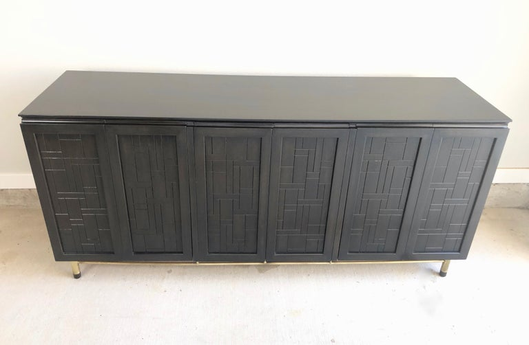 Patchwork Credenza by John Stuart In Good Condition For Sale In Laguna Hills, CA