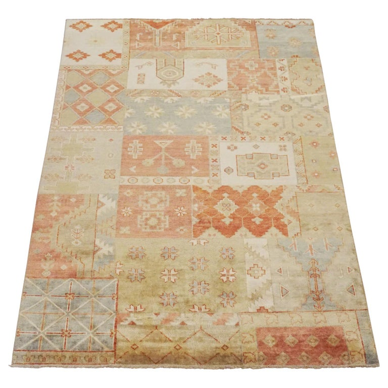 Oushak Rugs For Sale: Patchwork Oushak Area Rug For Sale At 1stdibs