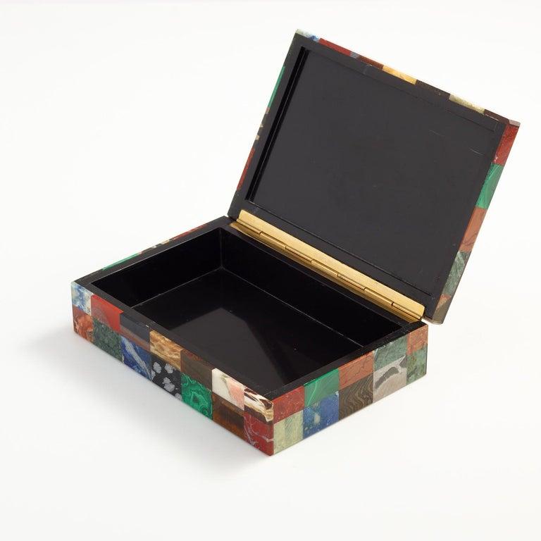 Patchwork Stone Specimen Box, Italian, circa 1930 In Excellent Condition For Sale In London, GB