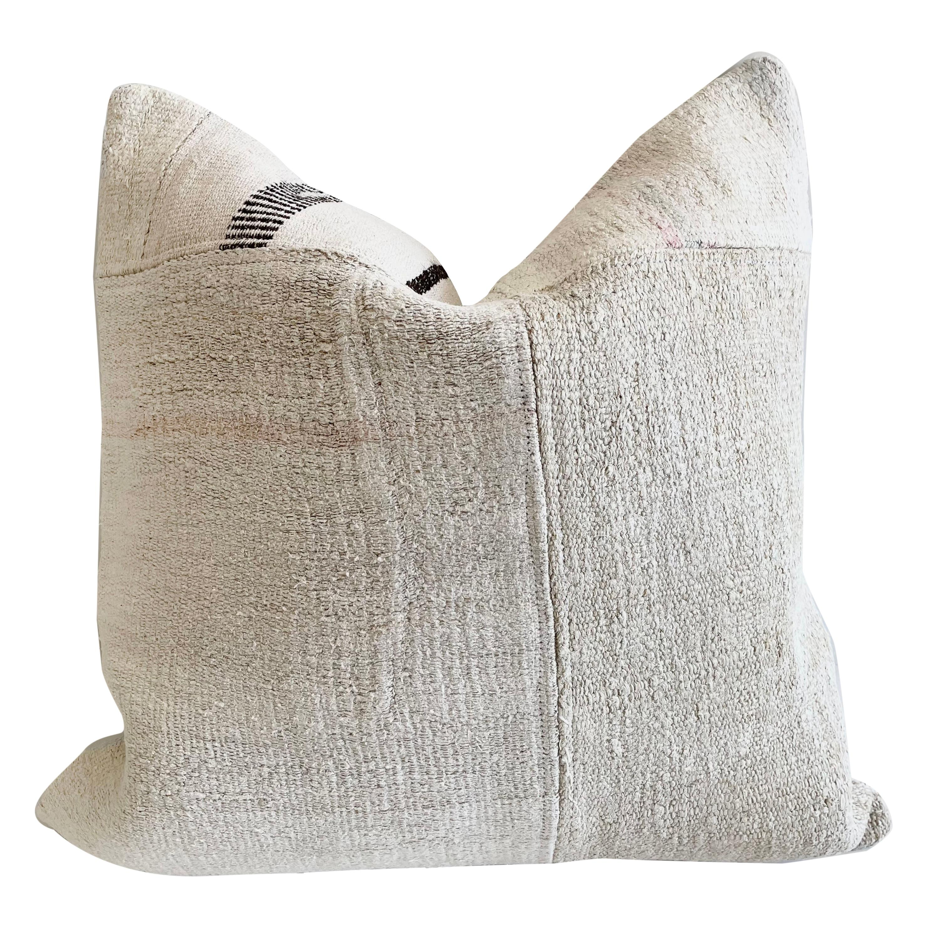 Patchwork Turkish Rug Pillow with Insert